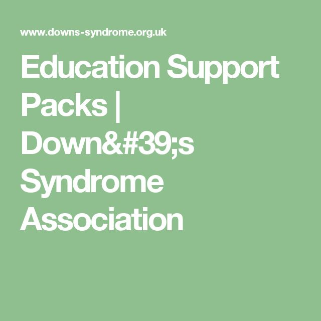 Education Support Packs | Down's Syndrome Association