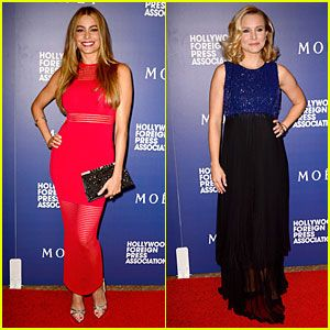 Sofia Vergara & Kristen Bell Glam Up at HFPA Grants Banquet
