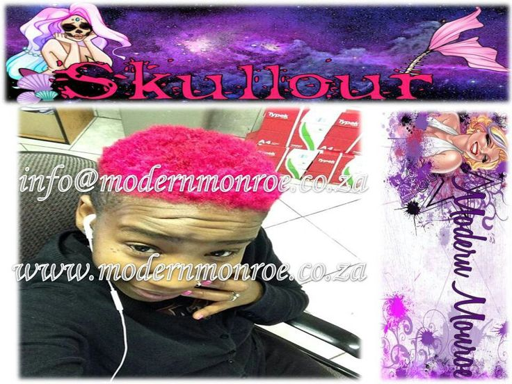 Neon pink Skullour hair dye. Skullour is a vegan friendly, cruelty free product that delivers long lasting beautiful results. For more info http://www.modernmonroe.co.za/index.php/online-shop/category/view/2