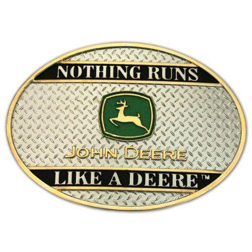 John Deere Montana Silversmiths Nothing Runs Like a Deere Belt Buckle