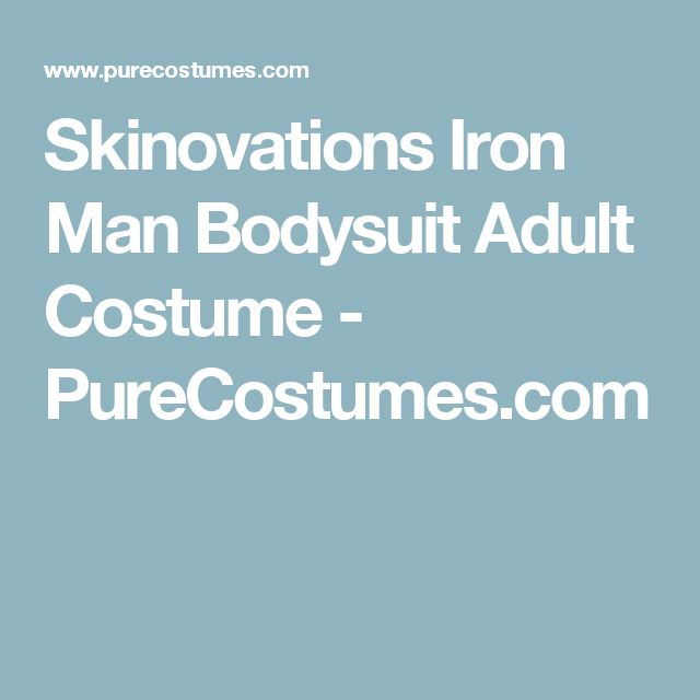 Skinovations Iron Man Bodysuit Adult Costume - PureCostumes.com