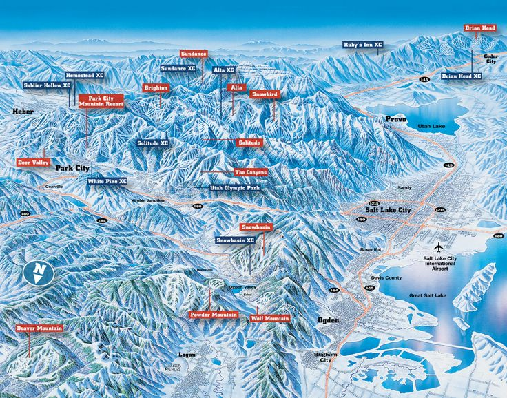 Best Maps North America Images On Pinterest North America - Us map of ski resorts