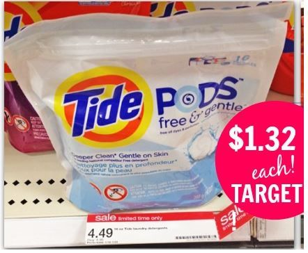Tide Pods 16 ct only $1.32 at Target after Sale, Stacked Coupons and Cartwheel! - http://www.couponaholic.net/2015/01/tide-pods-16-ct-only-1-32-at-target-after-sale-stacked-coupons-and-cartwheel/