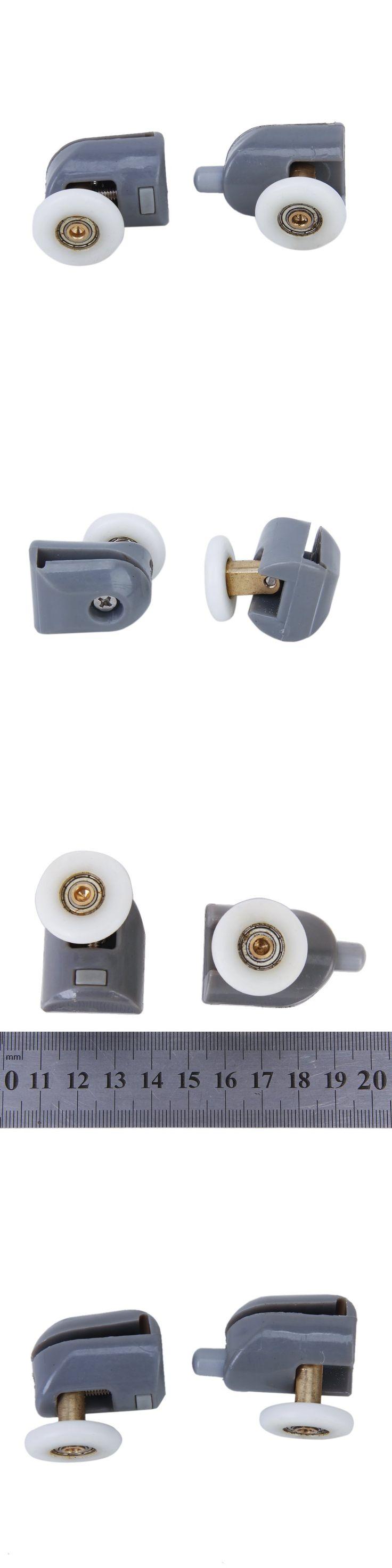 5x Remplacements de Roues Roulettes Rouleaux de Porte de Douche en Haut et Bas Diametre de 25mm