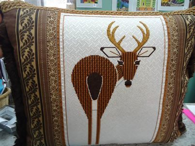 Charley Harper Deer needlepoint - as seen on Needlepointing in Your Nest page on Facebook - Fantastic!