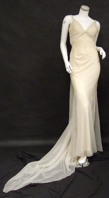 Fashion Show Gown - 1970's - Design by Edith Head (American, 1897-1981) for a fashion show to simulate Jean Harlow - @~ Watsonette