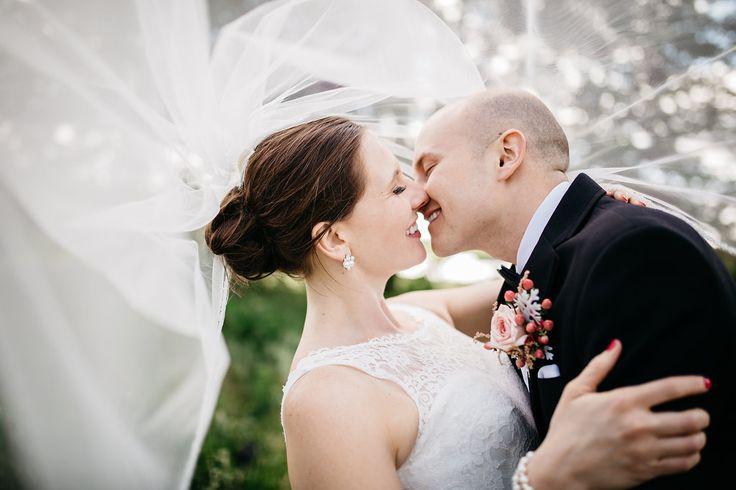 Real Omaha Wedding bride and groom  photo by Sarah Gudeman