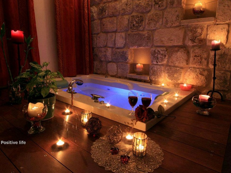 21 best Romantic bath images on Pinterest Bathtubs Beautiful