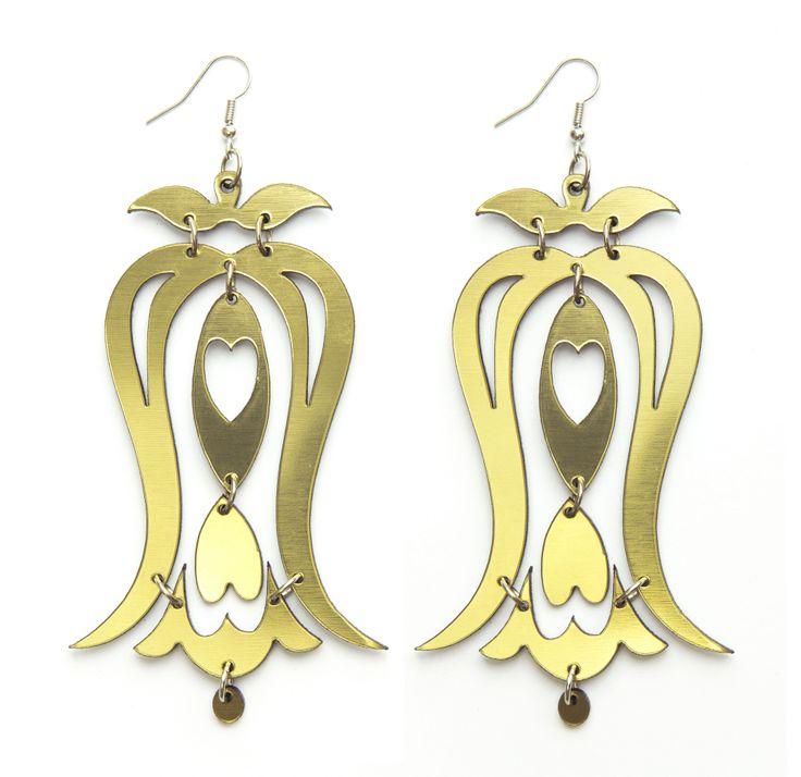 Arany színű harangvirágos fülönfüggő