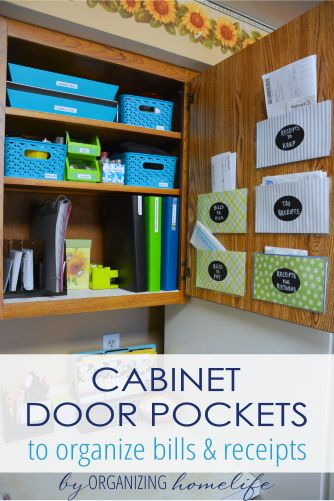 How to Make Pockets in a Cabinet to Organize Bills and Receipts