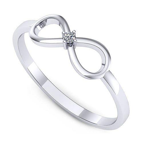 Inel logodna F67ADI * Piatra principala: 1 x diamant, dimensiune: ~1.80mm, greutate: 0.02ct , forma: round