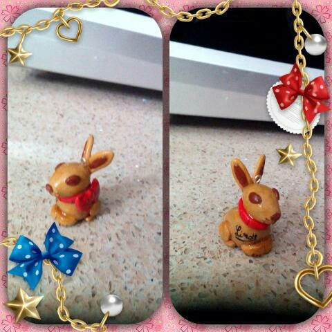 Bunny polymer clay