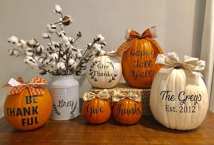 Thanksgiving personalized pumpkins | thanksgiving | Pinterest | Thanksgiving