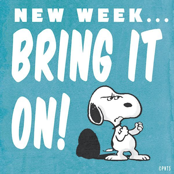 ...New Week, Bring it ON!!!... Have a great week and I will miss you... Own the week and know you are on my mind...