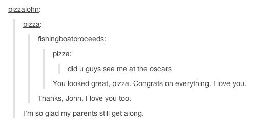 This took me so long---John Green and the pizza Tumblr stalker had a conversation!
