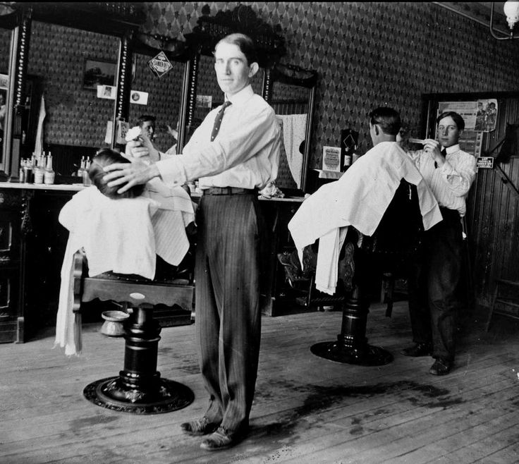 33 Rare Old Photos Captured Barber Shops in the late 19th-early 20th Centuries