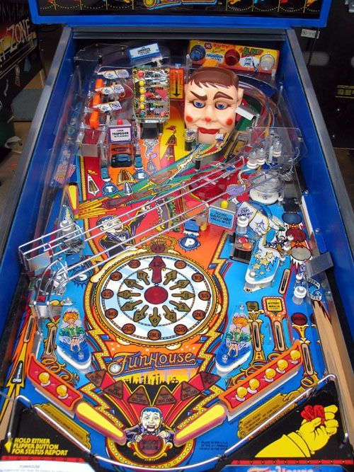 "Funhouse Pinball Machine. My absolute fave pinball machine!  ❤️❤️❤️❤️  spent hours playing this!  Love when it said ""Get ya self a hot dawg!"""