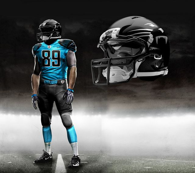 Carolina New Panther NFL Uniforms | Nike Pro Combat - Carolina Panthers 2012 Alternate Concept | Flickr ...