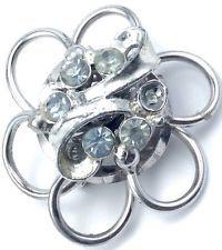 Vintage Silver Tone Knotted Flower Rhinestone Jewelry Pin Brooch http://www.ebay.com/itm/Vintage-Silver-Tone-Knotted-Flower-Rhinestone-Jewelry-Pin-Brooch-/141612492587?pt=LH_DefaultDomain_0&hash=item20f8c3272b