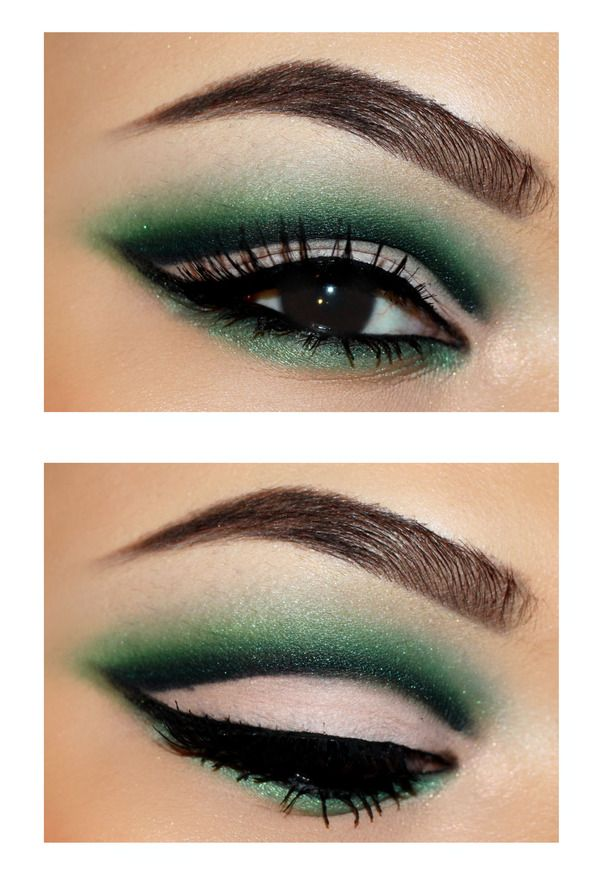 Cut Crease Makeup: *T* Green Cut Crease