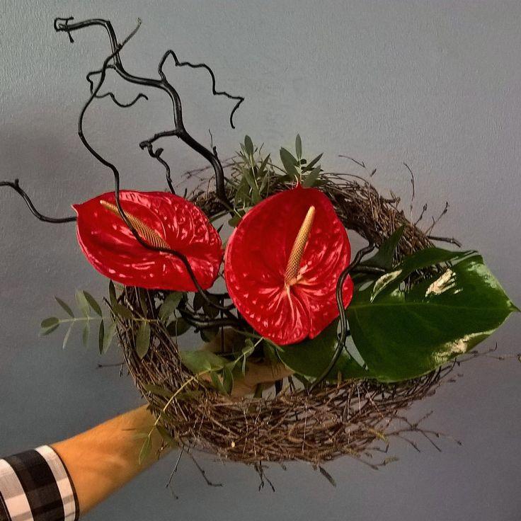 Anthurium bouquet for rock star.
