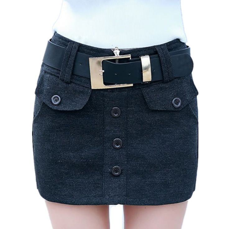==> [Free Shipping] Buy Best 2017 New Spring Autumn Women Short Pants Sexy High Waist Straight Woolen Bootcut Short Casual Pantskirt Feminino C217 Gray Black Online with LOWEST Price | 32798949857