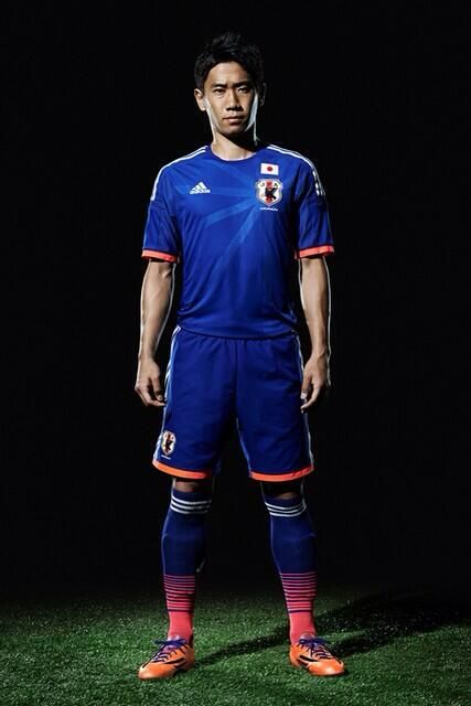 Japan 2013-15 adidas Home (Shinji Kagawa)