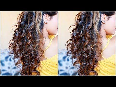 Easy HEATLESS Curls I Using DIY Hair Donut I 5 Minute NO Heat Sock Curls I Easiest Overnight Curls - YouTube