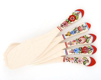 Wooden Scoopula decorated with Gorodets painting. Art: 105-005-0001-15 - Edit Listing - Etsy