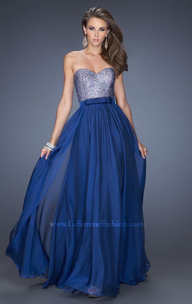 Vestido largo azul rey 632