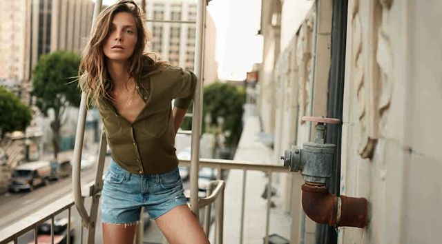Daria Werbowy by Cass Bird for AG Jeans Spring/Summer 2016