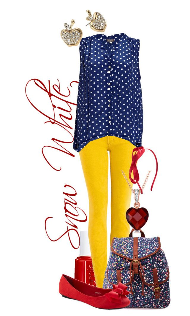 """""""Snow White Back to School"""" by srta-sr ❤ liked on Polyvore featuring Essie, Acne Studios, Mercy Delta, Charlotte Russe, Collette Z and Forever 21"""