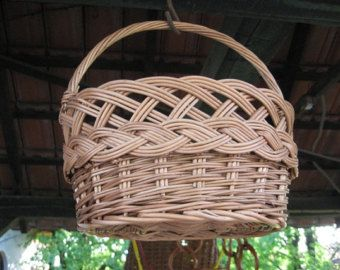 Small Wicker Basket, Willow Kids Basket, Wicker Toy Basket, Handmade Basket for Kids, Woven Toy Basket for Children