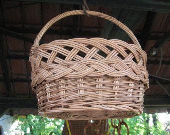 Small Wicker Basket, Willow Kids Basket, Wicker Toy Basket, Handmade Basket for Kids, Woven Toy Basket for Children