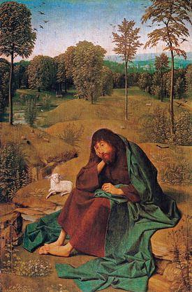 Geertgen tot Sint Jans, Św. Jan Chrzciciel na pustkowiu - Encyklopedia PWN - źródło wiarygodnej i rzetelnej wiedzy