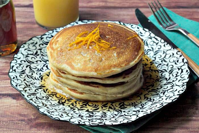 The addition of creamy, fresh mascarpone cheese makes these Mascarpone Pancakes the best pancakes ever.