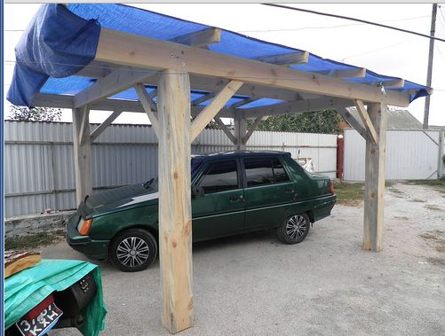 Как сделать деревянный навес для машины?Варианты. | Столярный блог.