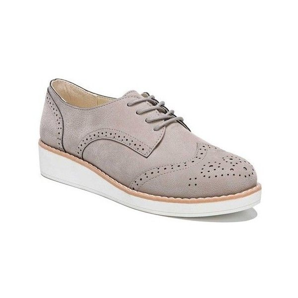 Women's Fergalicious Everest Wingtip Oxford ($22) ❤ liked on Polyvore featuring shoes, oxfords, casual, grey, wingtip shoes, wingtip oxfords, lace up oxfords, wedge shoes and wedge lace up shoes