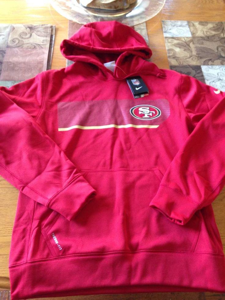 Nike NFL San Fransisco 49ers Therma-Fit Performance Hoodie Size Medium #Nike #SanFrancisco49ers