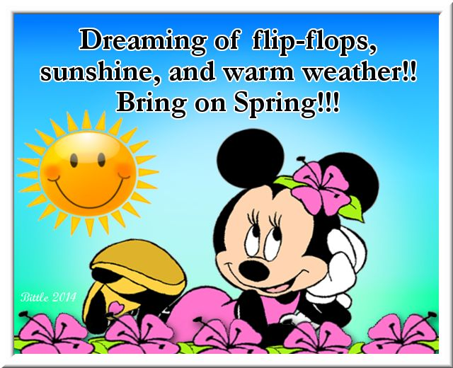Dreaming of Spring quote quotes spring spring quotes minnie mouse disney