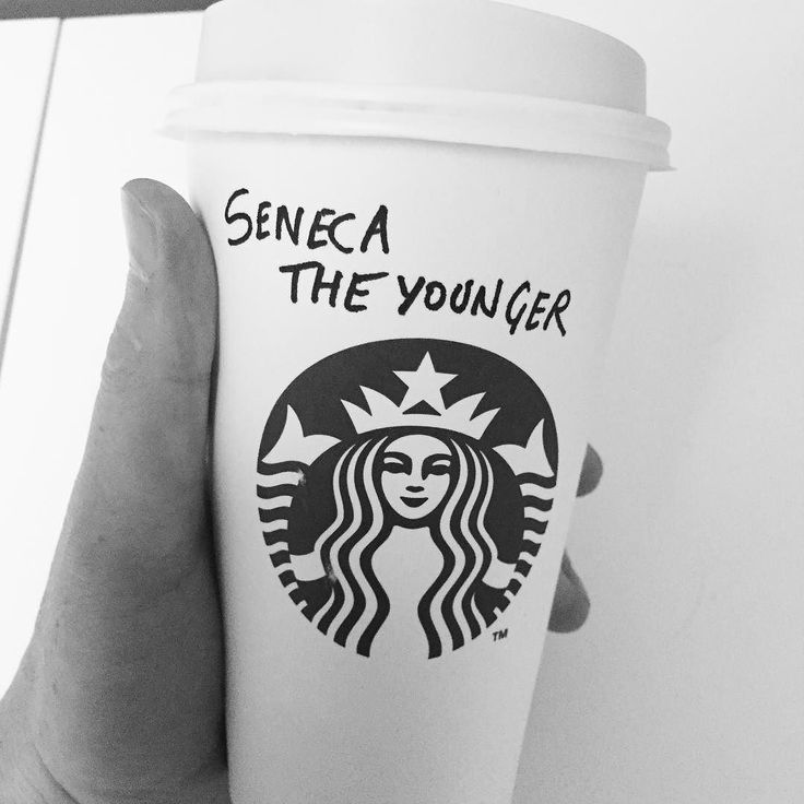 "Ok I wrote it myself as I didn't have the stones to say that was my name but makes me think it'd be a good Cato-inspired @timferriss style exercise!  ""Cappuccino please."" ""No problem what's your name?"" ""Seneca The Younger."" "" ok."" #Stoicism #Cato"