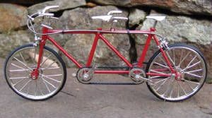 Diecast tandem bicycle, 1:10 scale
