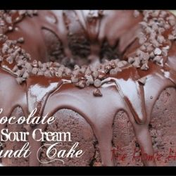 Chocolate Sour Cream Bundt Cake by TheHomeHeart