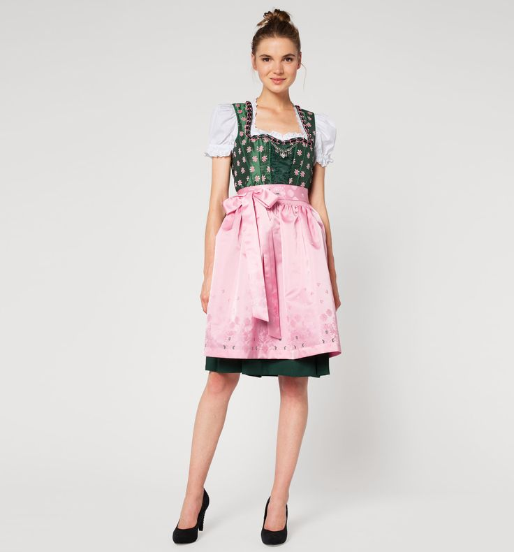 Frontimage view Dirndl in rosa
