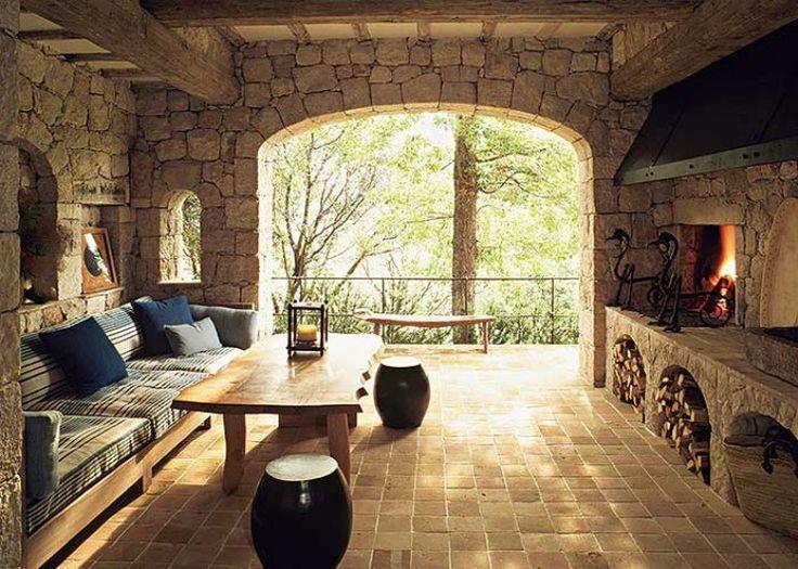Estilos De Casas Rusticas | interesante casa rustica disenada totalmente en piedra de canteria de ...