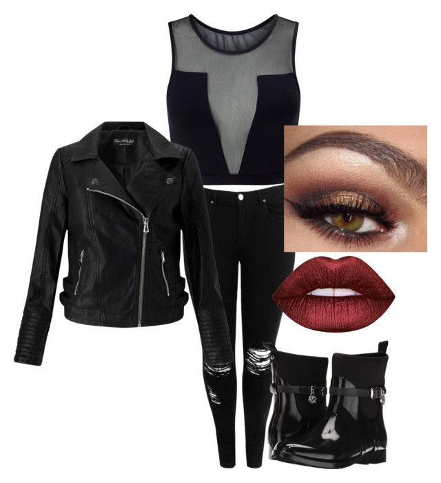 """""""Tenue n°17"""" by vava-creatrice on Polyvore featuring Varley, Boohoo, MICHAEL Michael Kors, Miss Selfridge and Lime Crime"""
