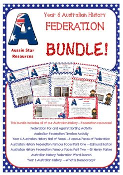Year 6 Australian History Federation Bundle. All of Aussie Stars Federation…