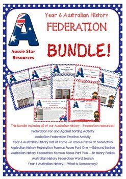 Year 6 Australian History Federation Bundle. All of Aussie Stars Federation…