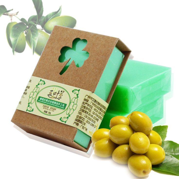 100g Zaitun Handmade Sabun Minyak Esensial Alami Zaitun Sabun Savon De Marseille Vegetal Murni Artisanat De Provence