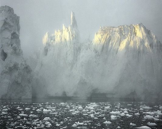 Greenland's glacial crevasses and melting ice floes captured by Olaf Otto Becker